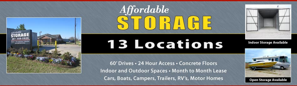 13 Locations for Affordable Storage Solutions in Katy - Houston - Cypress